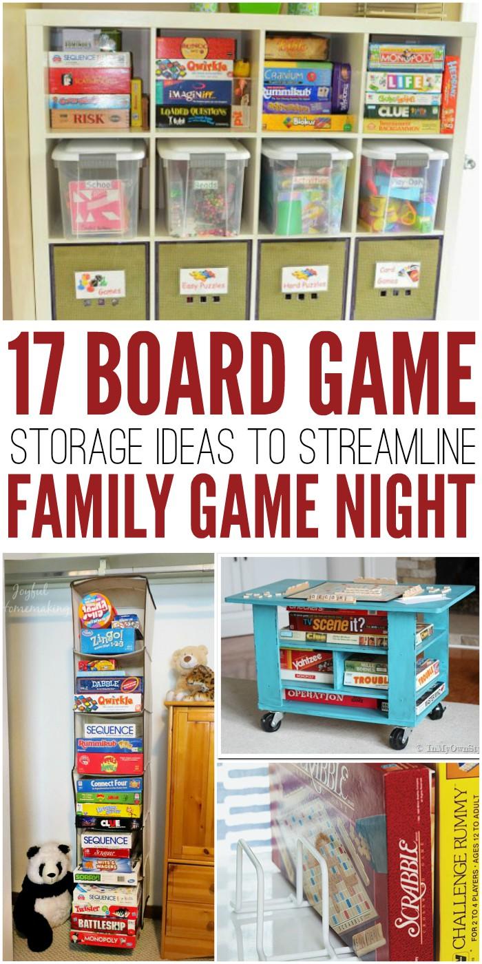 17 Board Game Storage Ideas to Streamline Family Game Night