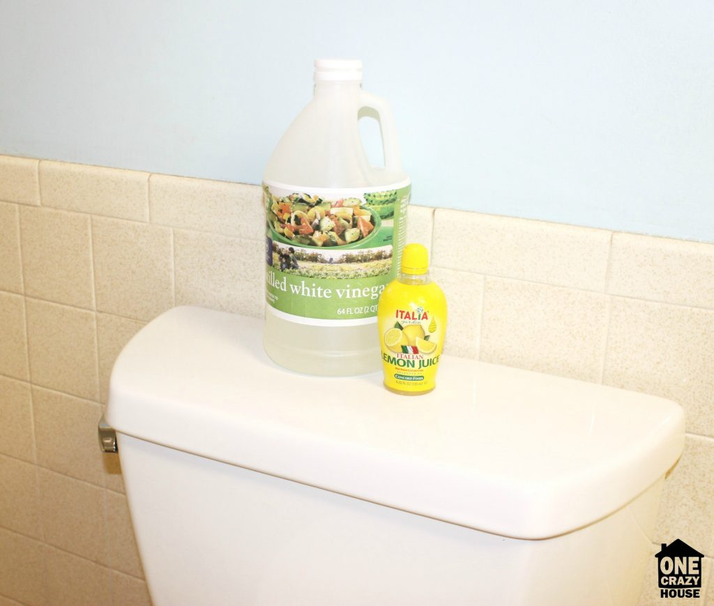 Clean water marks from toilets