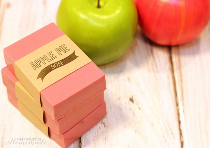 DIY apple pie soap and fresh apples