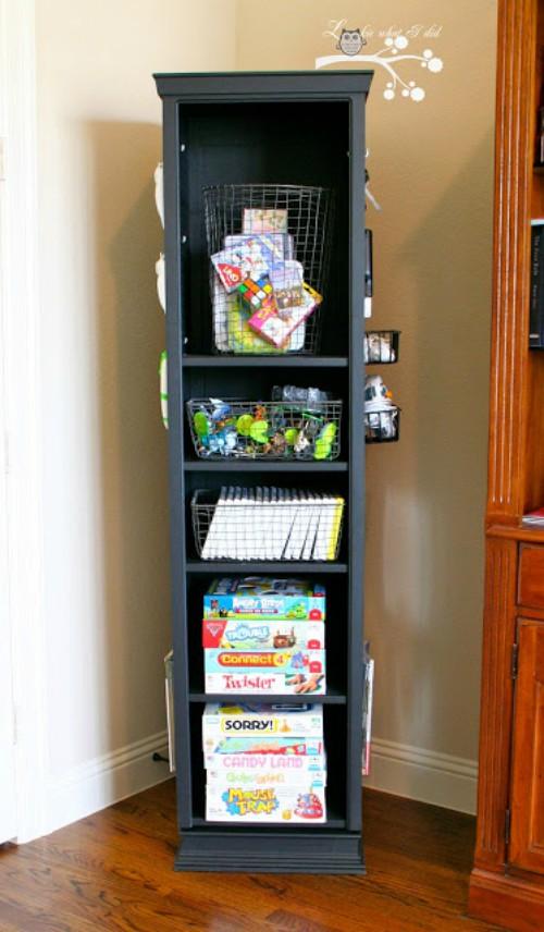 gaming tower swivel organizer