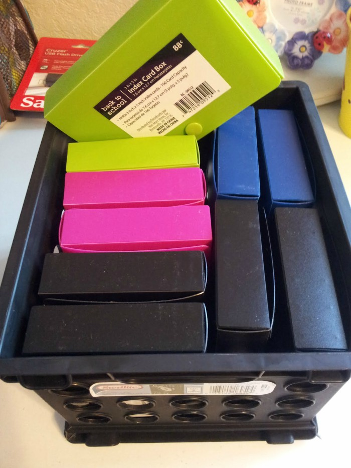 index card boxes