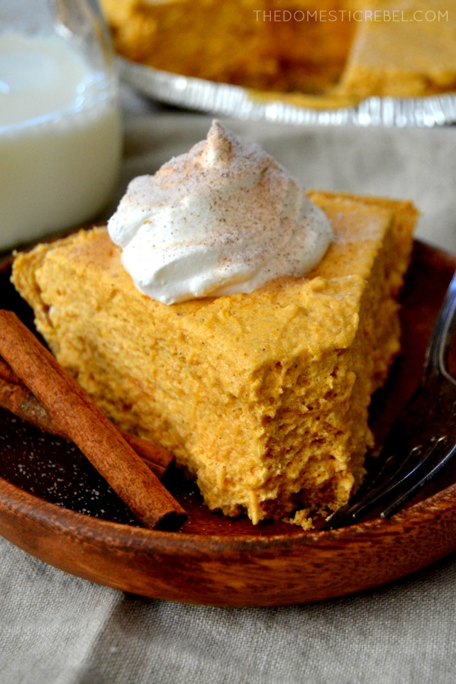 no bake pumpkin marshmallow pie