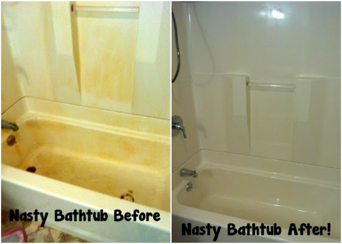 rusty bathtub before and after