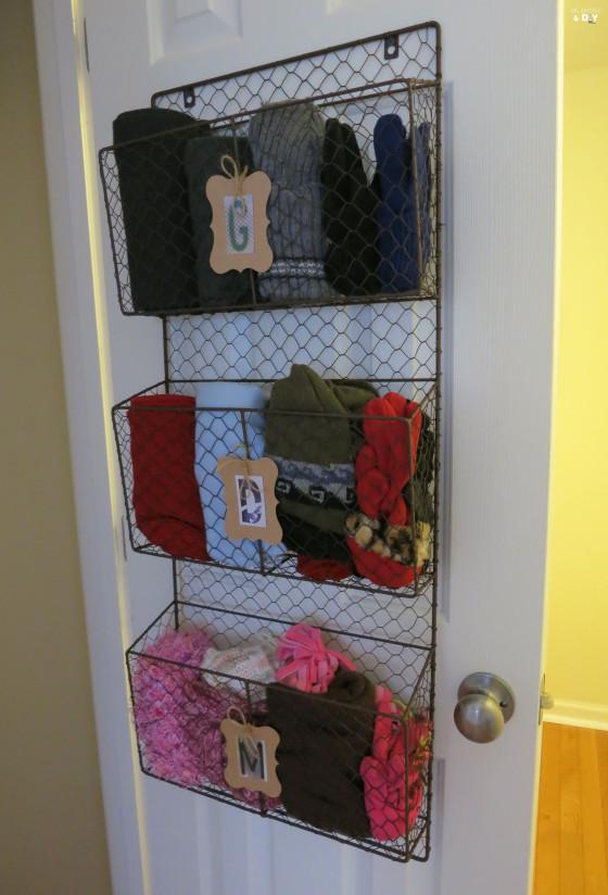 tier hanging magazine basket