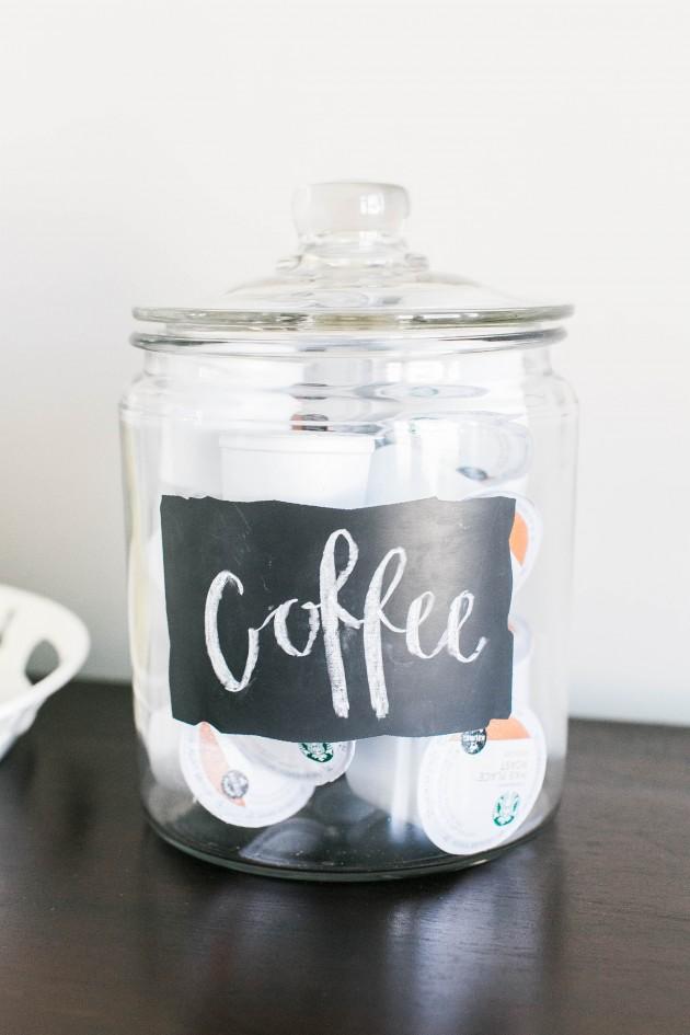 coffee pod jar