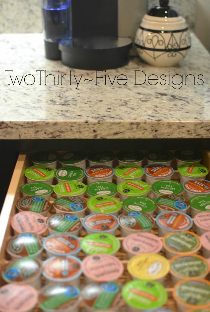 dowel and drawer storage
