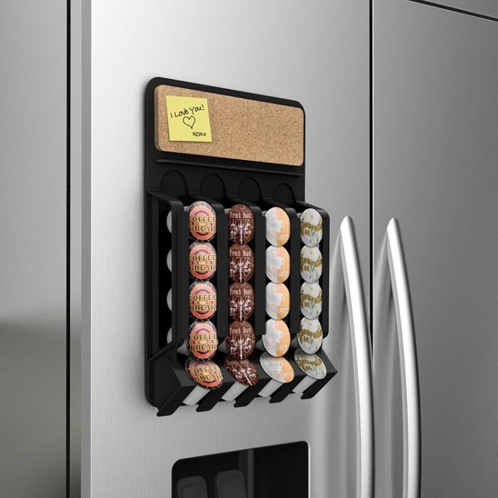 fridge mounted coffee pod dispenser