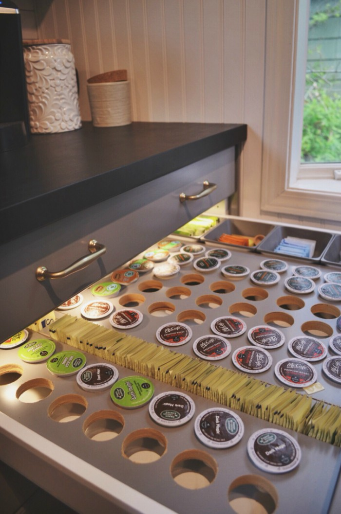 lighted storage drawer