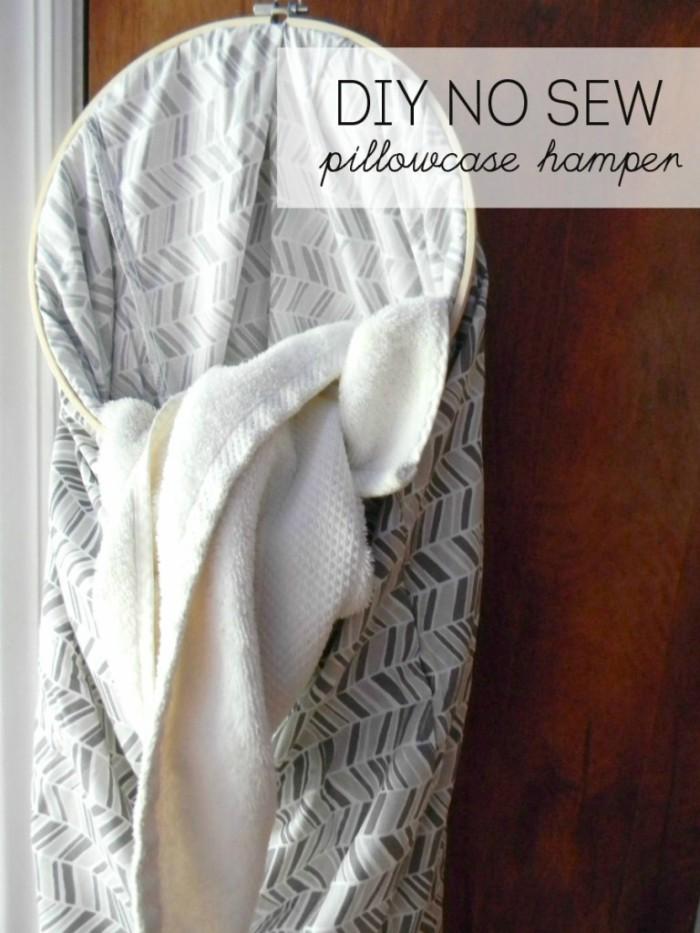 no sew pillowcase hamper