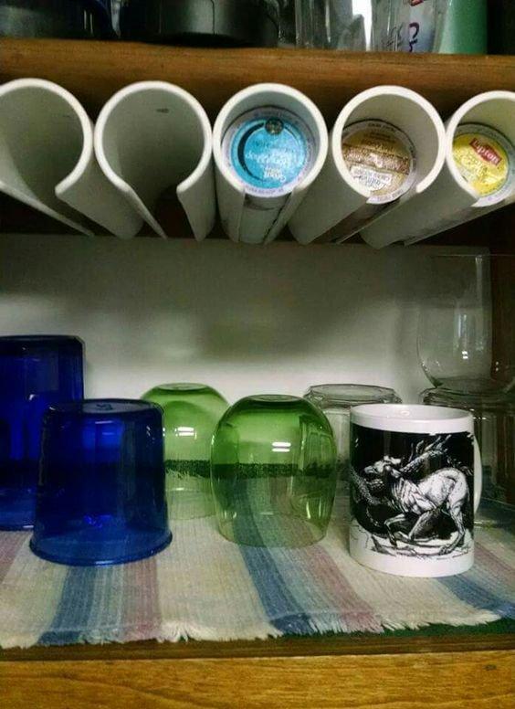 pvc pipe k cup storage