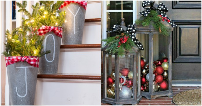 23 Front Porch Christmas Decorations That'll Impress