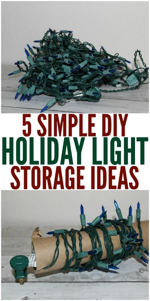 5 Simple DIY Holiday Light Storage Ideas - Christmas Lights Storage #HolidayDIY #DIYHome