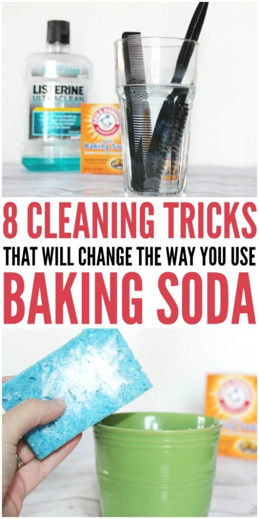 8 Cleaning Tricks that will Change the Way You Use Baking Soda #CleaningHacks