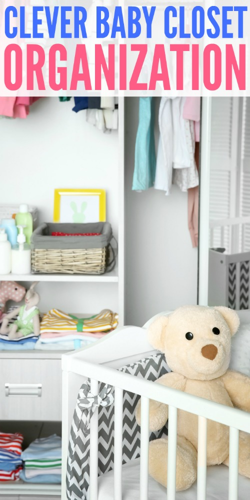 Clever Baby Closet Organization Products #ClosetOrganization #BabyClosets #HomeOrganization