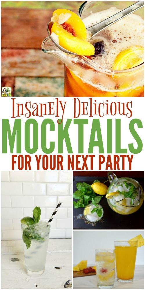 Simple Mocktail Recipes You'll LOVE! #Mocktails #MocktailRecipes #NonAlcoholic