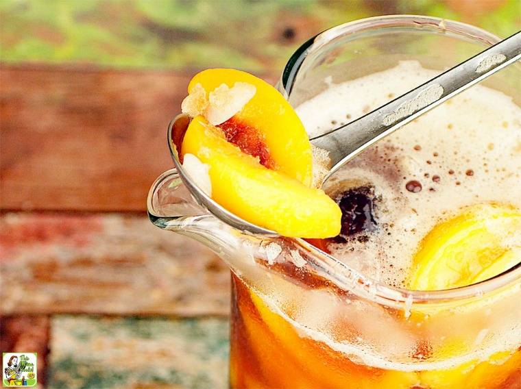 Iced Tea Sangria by This Mama Cooks