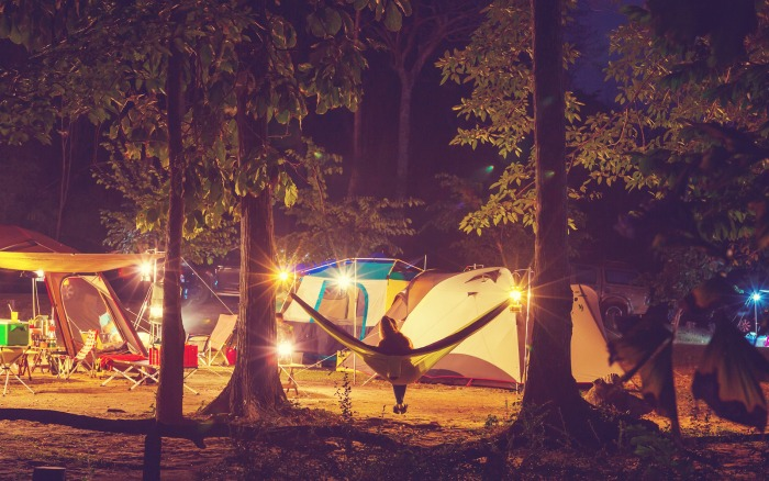 Camping with a group
