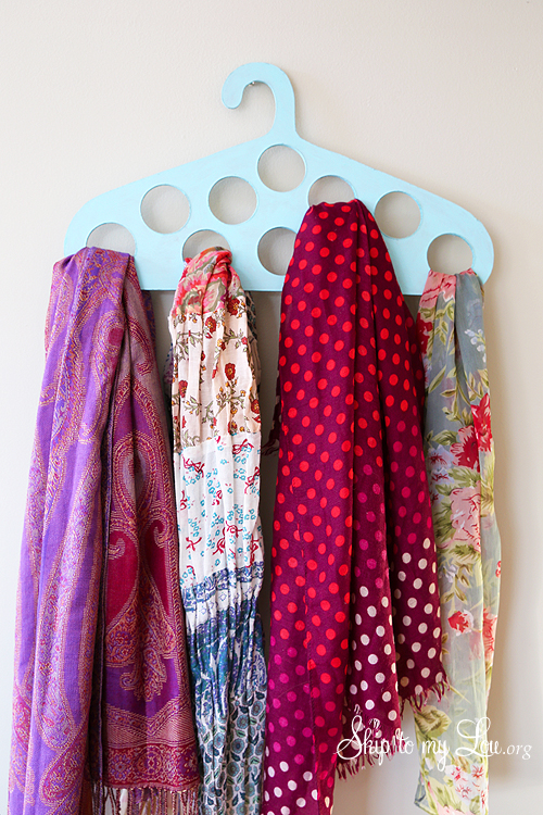 DIY Scarf Hanger from Skip to My Lou - clothing storage ideas