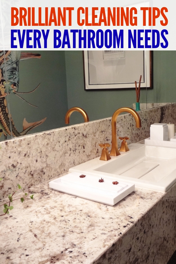 Looking for brilliant bathroom organizing ideas? Look no further than these simple decluttering tips!You'll love the ease of application! #declutter #bathroomorganizationideas #onecrazyhouse #cleaning