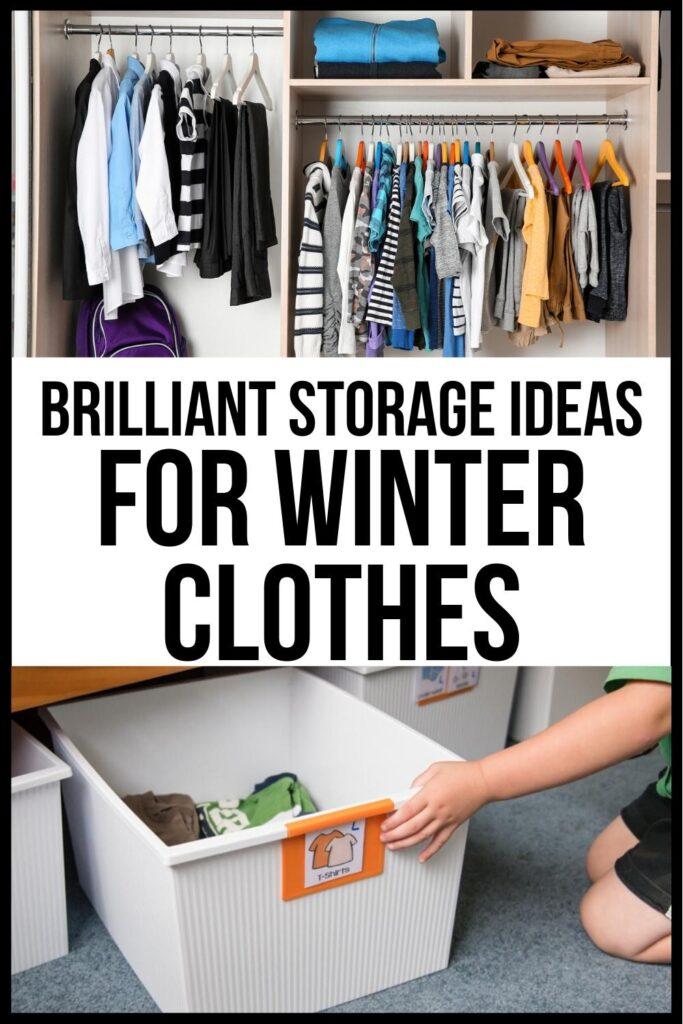 storing seasonal clothes tips pin image