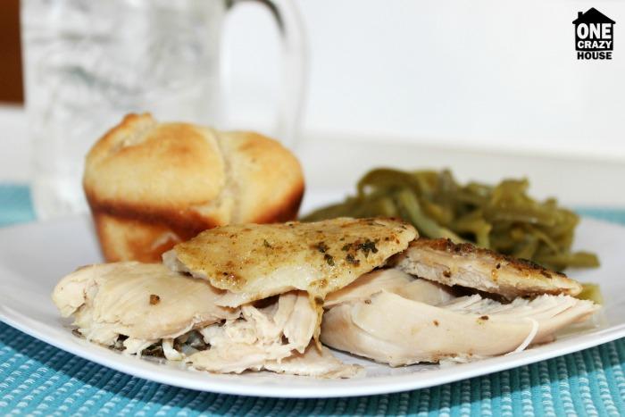 Moist Crock Pot Rotisserie Style Chicken