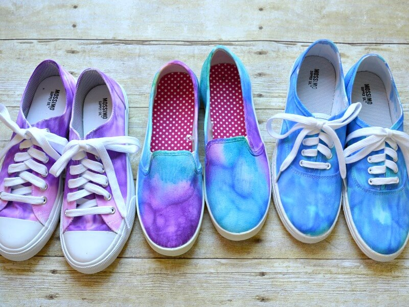 Summer Crafts For Kids- Tie Dye Shoes - Organized 31