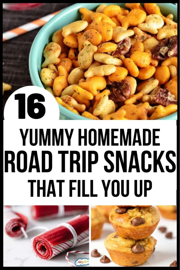 pinterest pin for road trip snacks