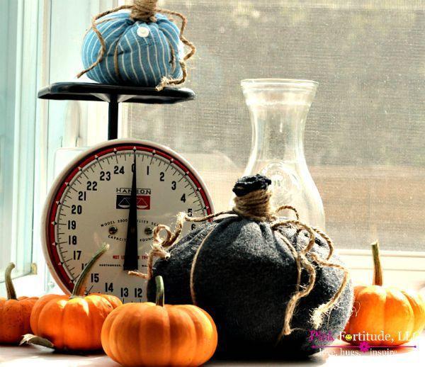 Farmhouse Diy Decor - No Sew Pumpkins