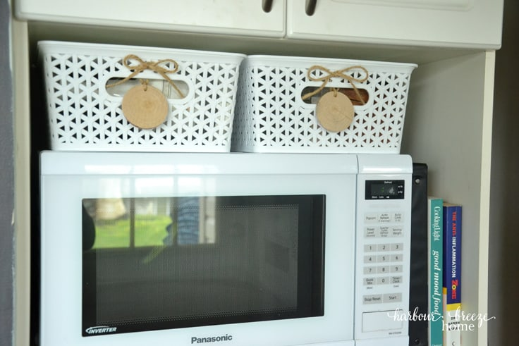 Kitchen Organization on A Budget - Packing Tape Labels - Keenary