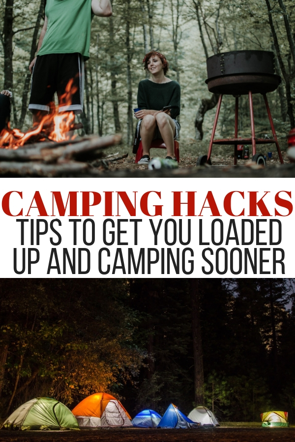 There are a ton of camping hacks out there that can make camping happen quickly and more efficiently. Check out my list of hacks to camp sooner. #campinghacks #camping #nature #onecrazyhouse