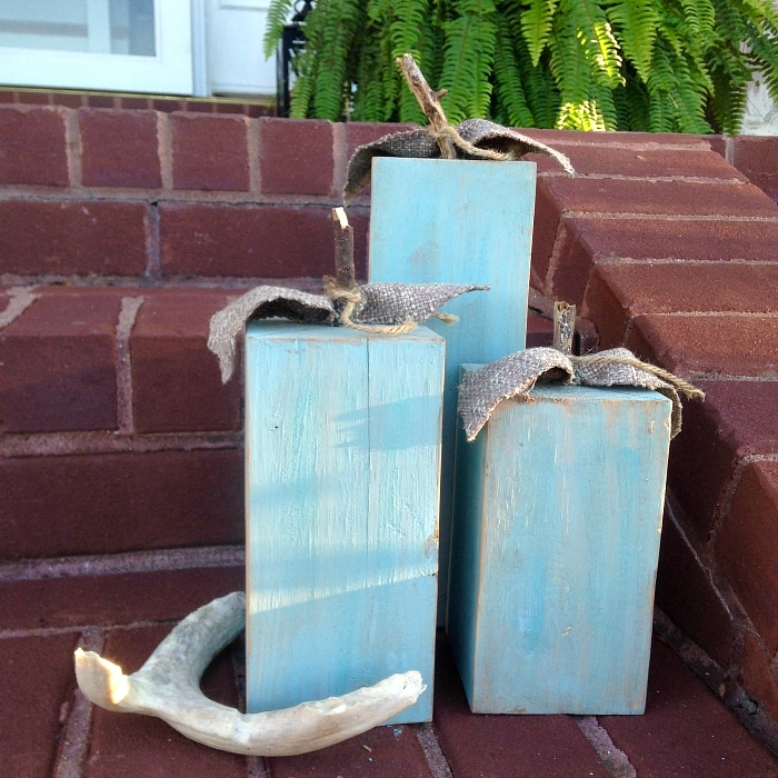 Fall Wood Projects Turquoise Pumpkins