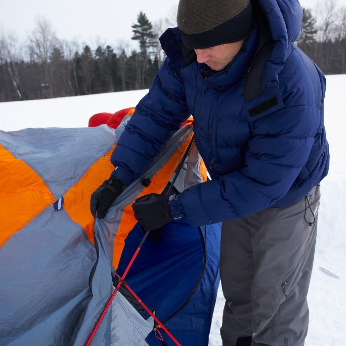 how to camp in the winter