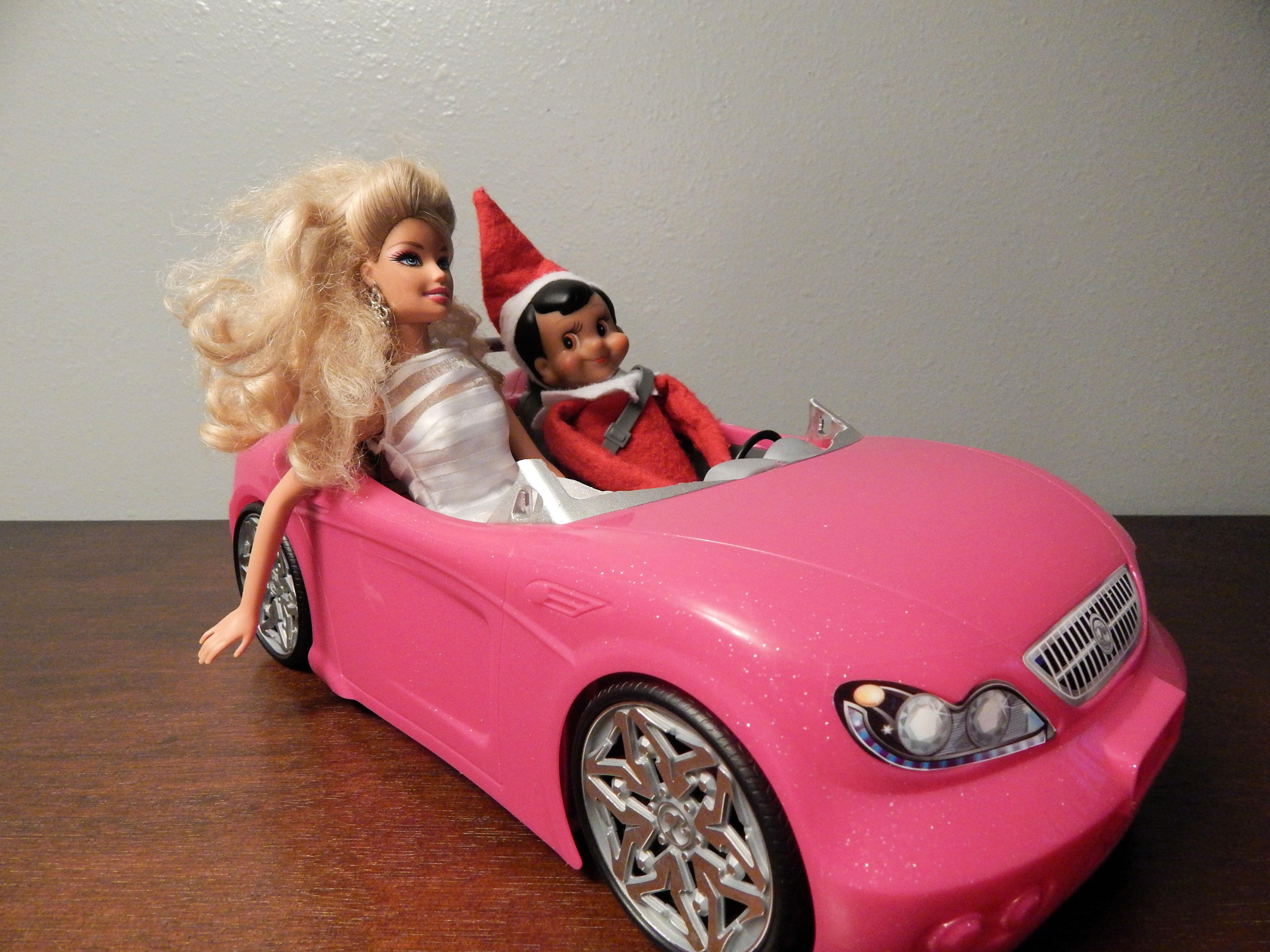 barbie and barbie car