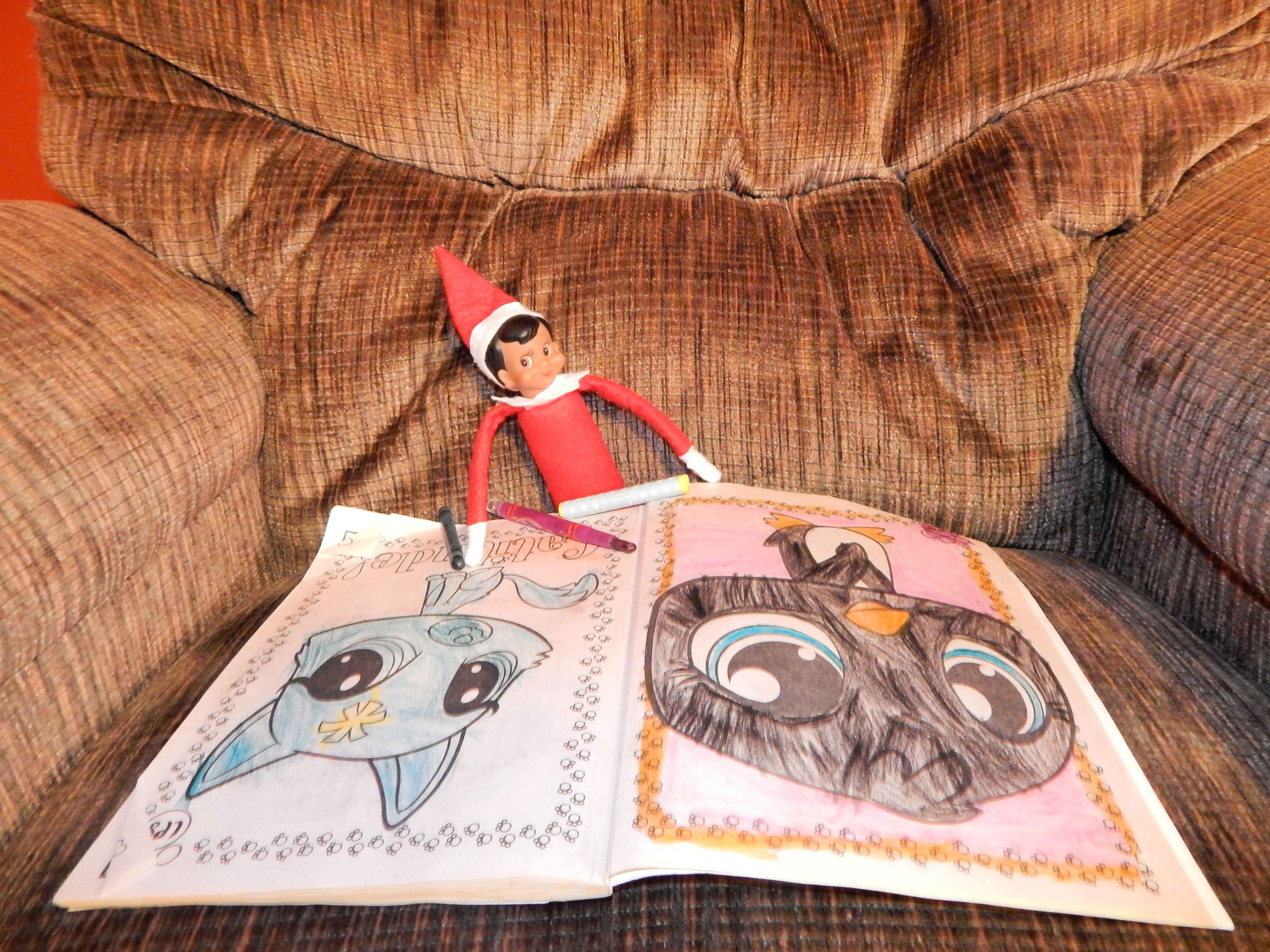 Elf On The Shelf Coloring