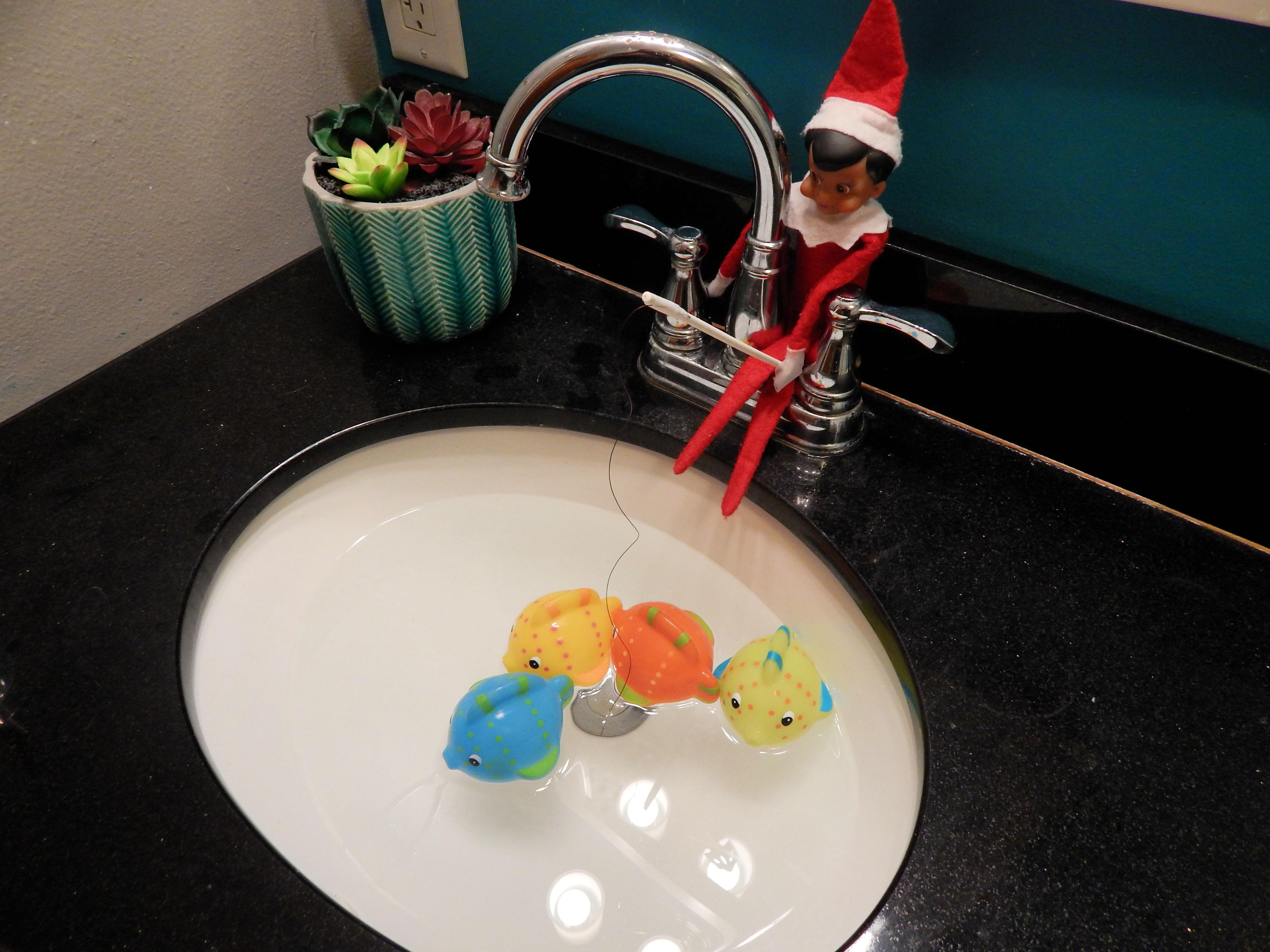Elf On The Shelf Fishing Idea
