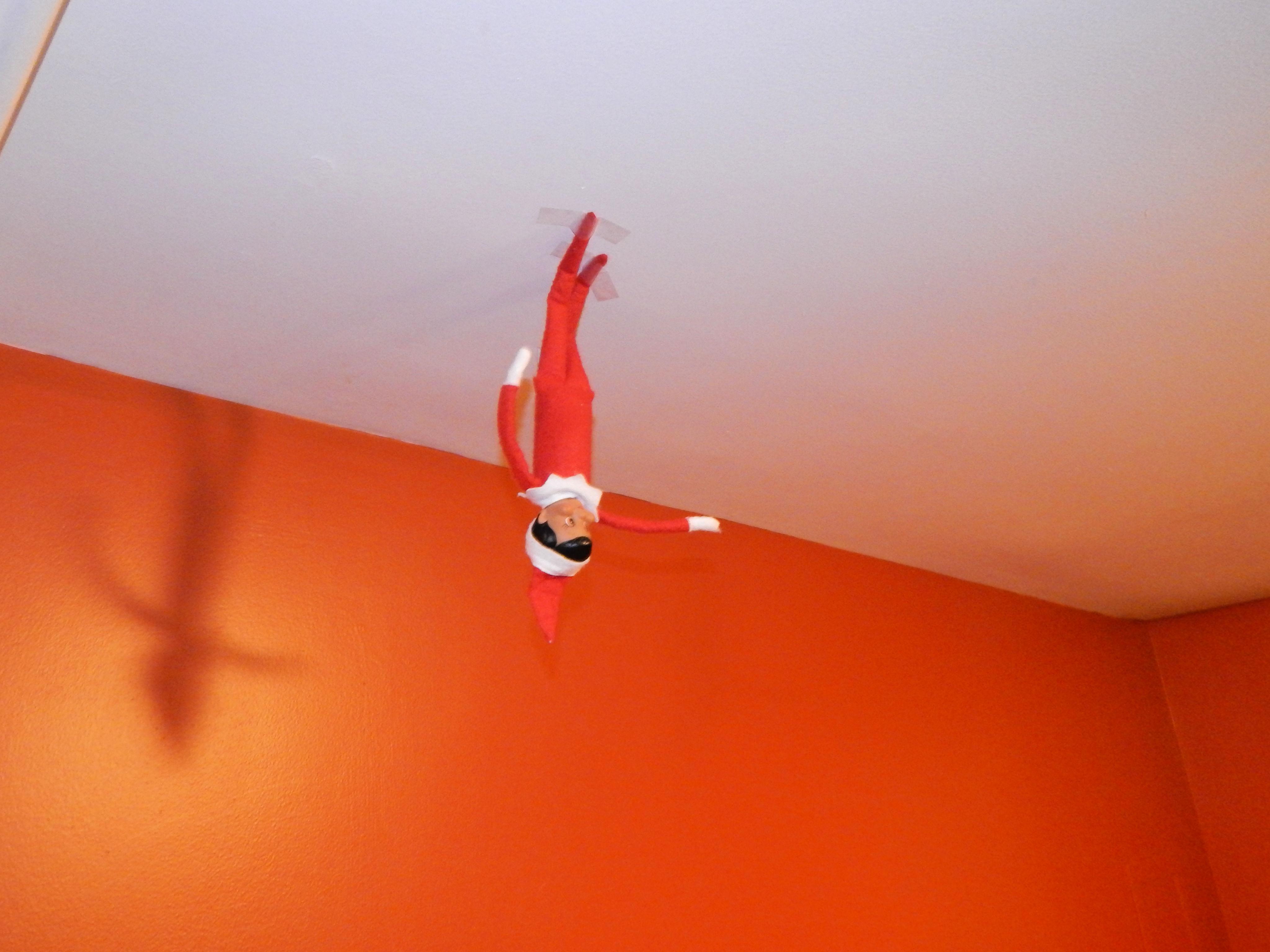 Elf On The Shelf Walks On Ceiling