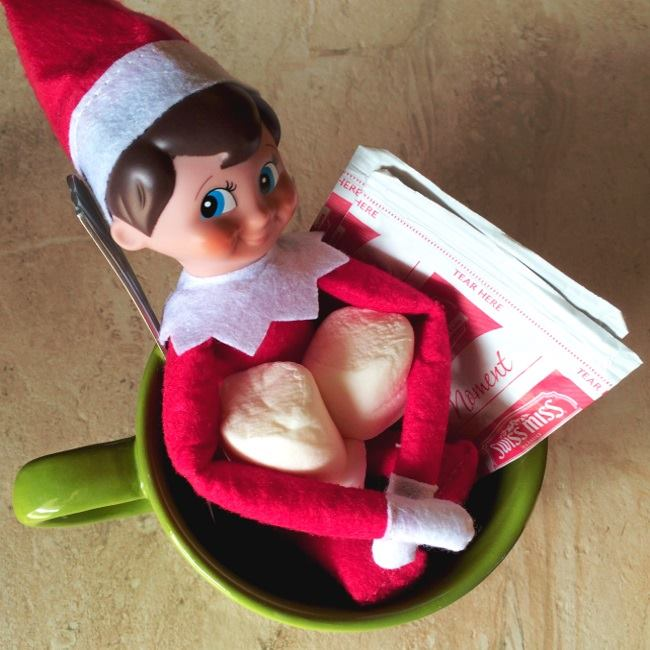 Elf On The Shelf in a coffee mug