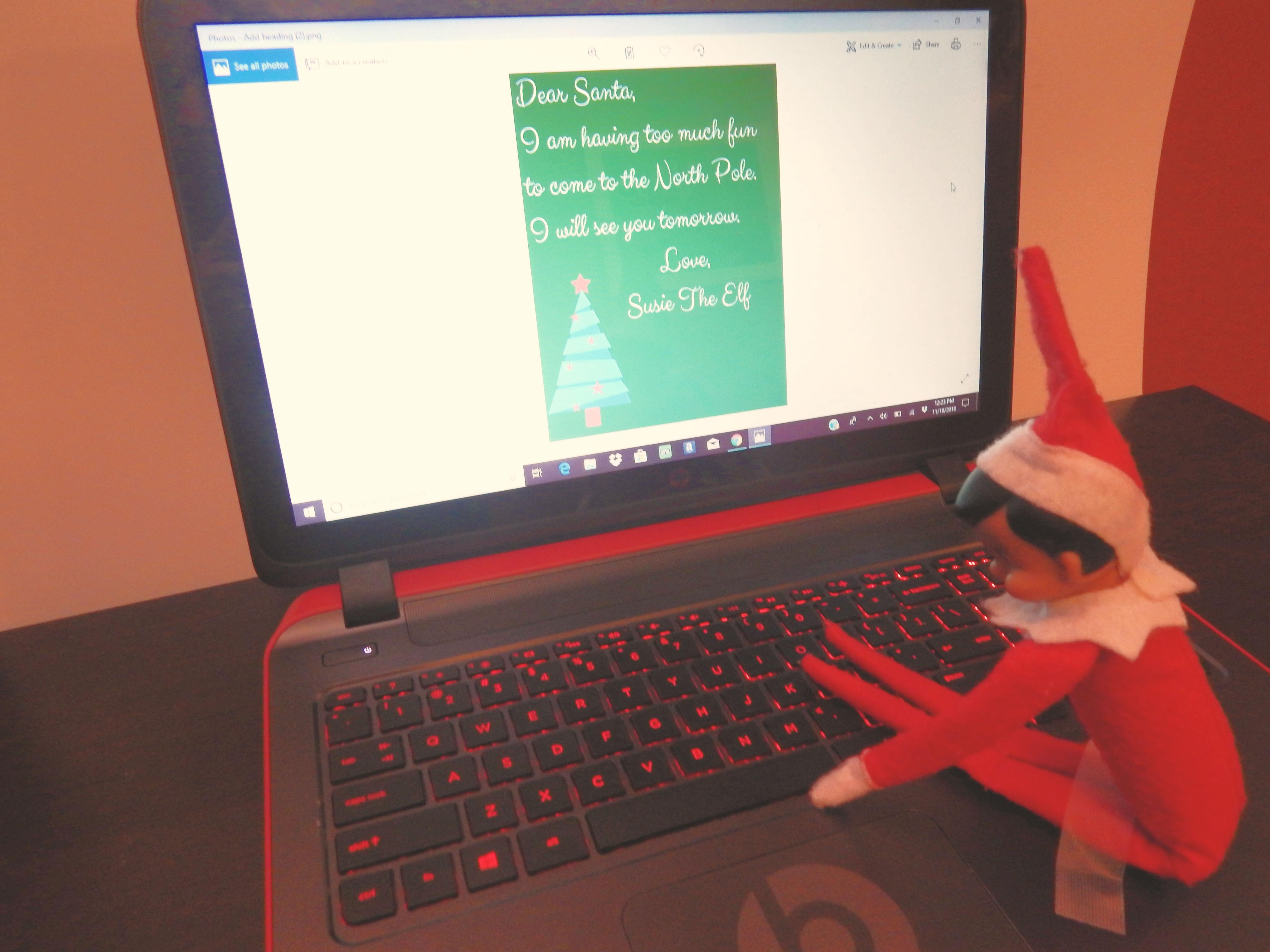 Elf On The Shelf Letter To Santa