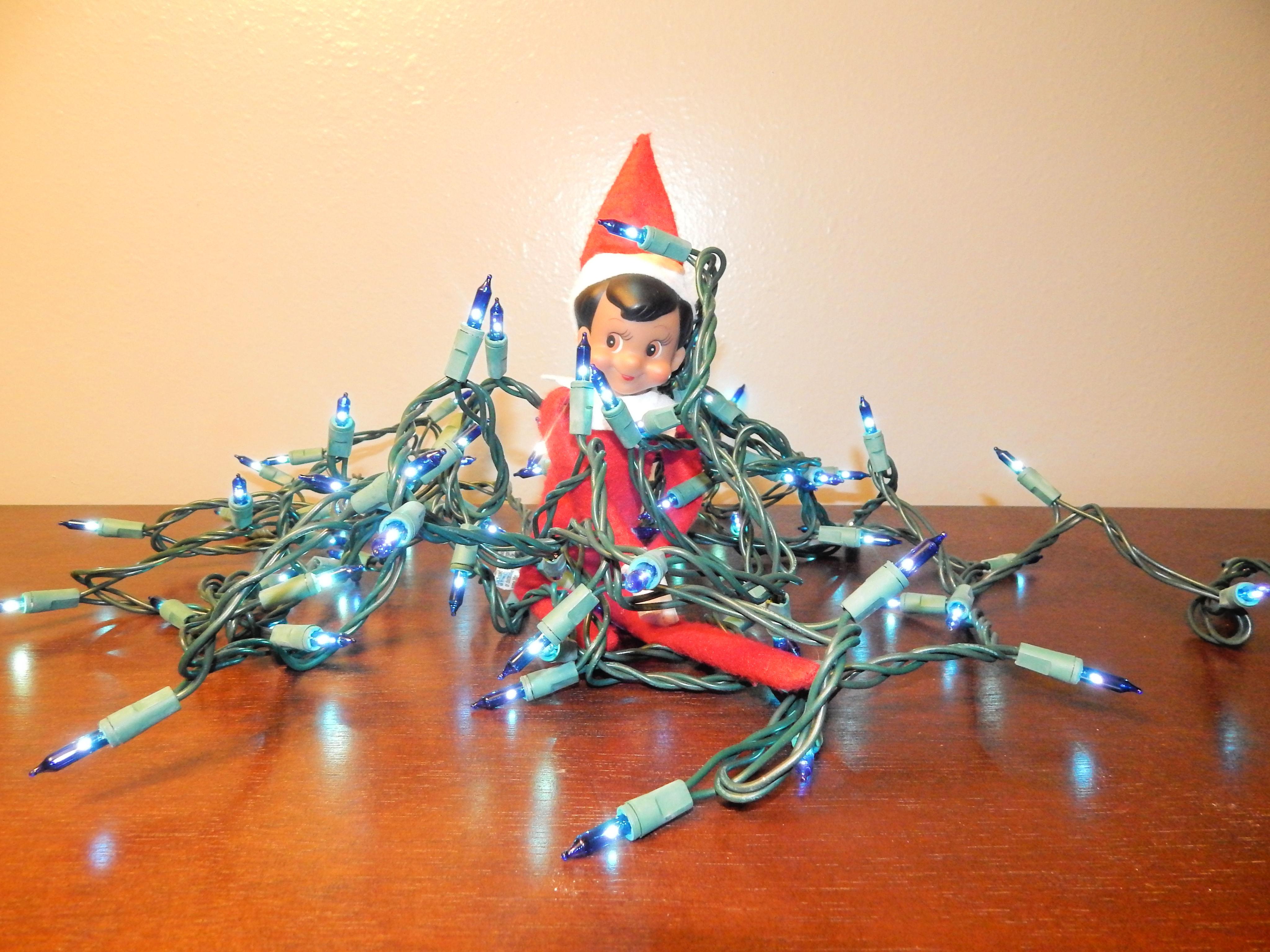 Clumsy Elf On The Shelf