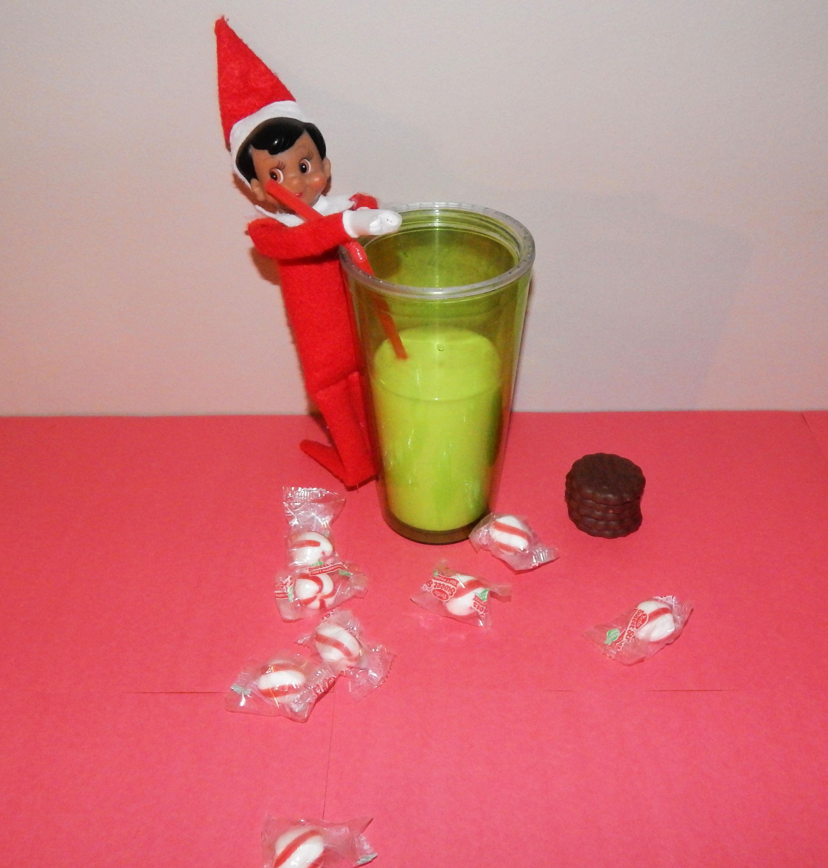 Elf On The Shelf Drinking Milk