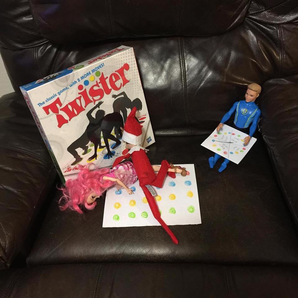Elf On The Shelf Twister Game