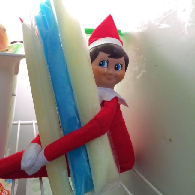Elf On The Shelf Popsicles