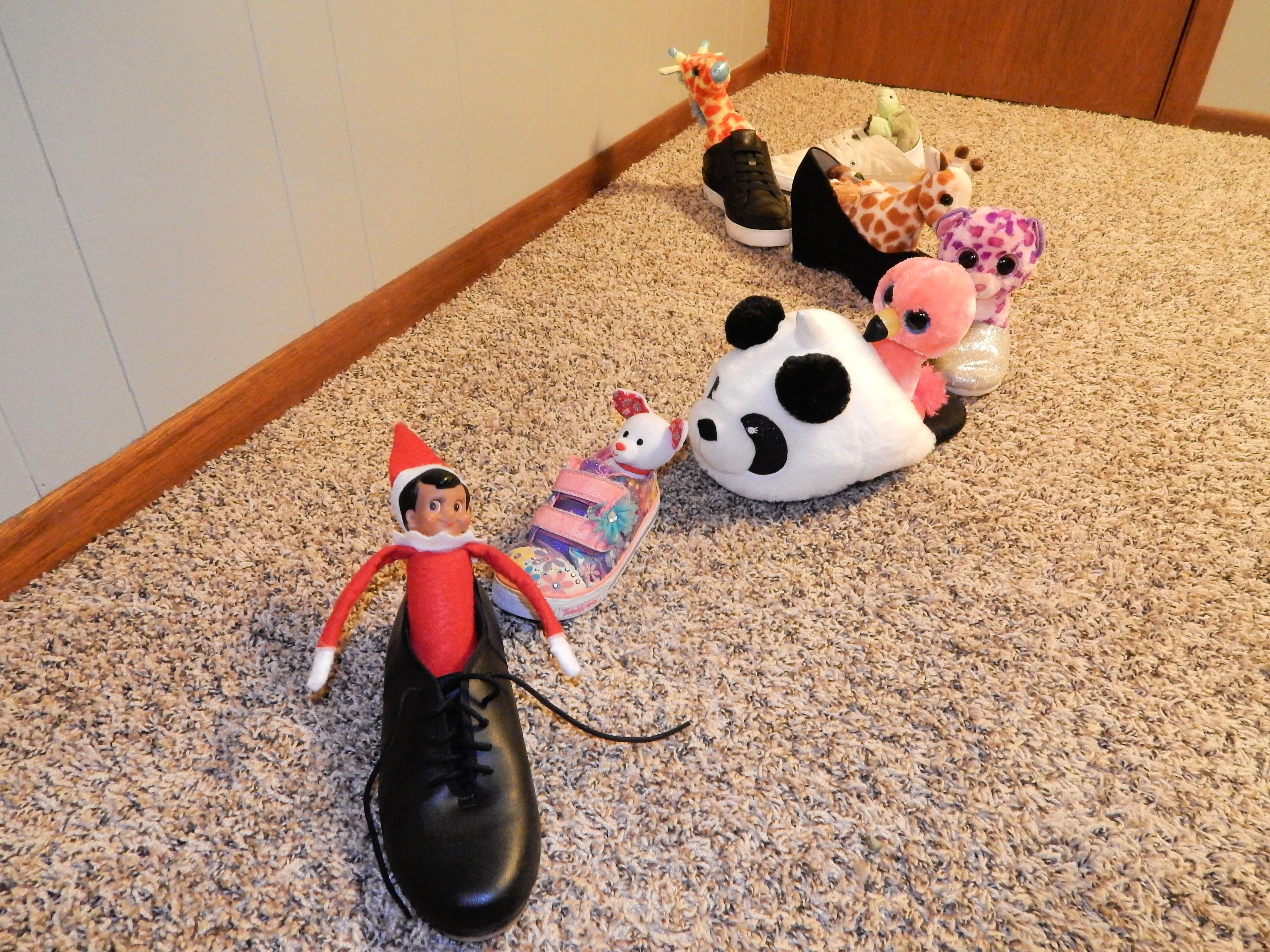 Elf On The Shelf Shoe Train