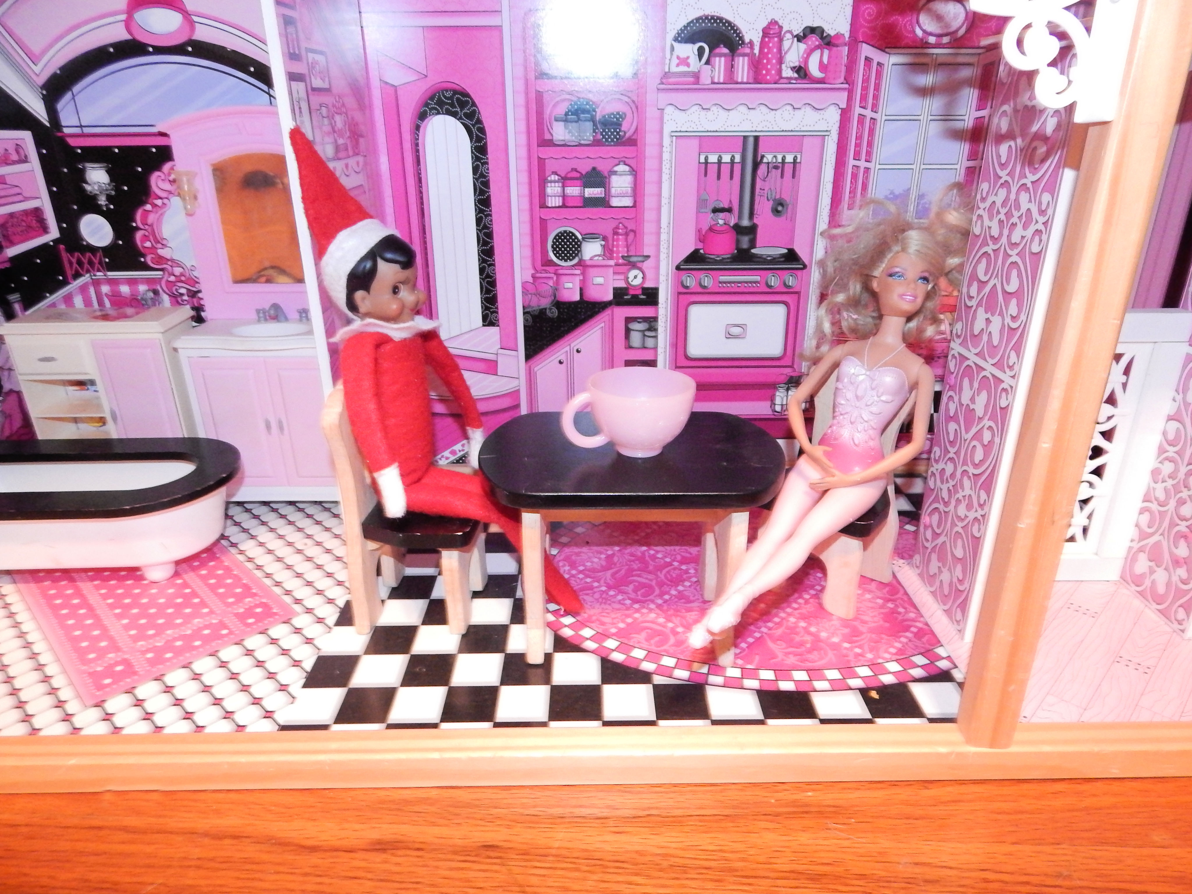 Tea Party With Elf On The Shelf
