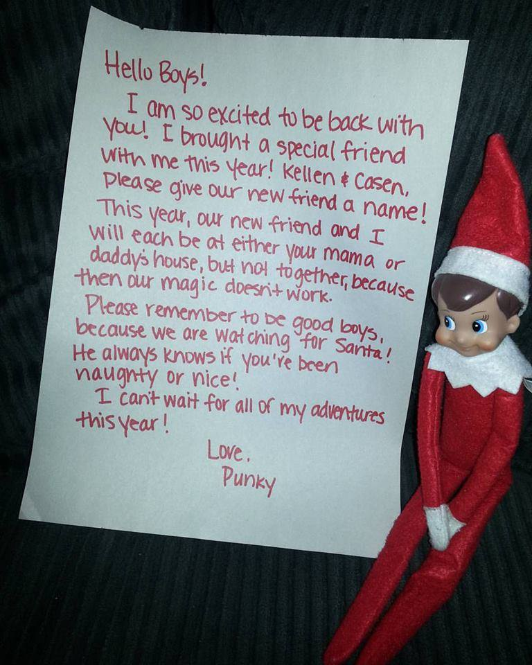 Elf On The Shelf For Divorced Families