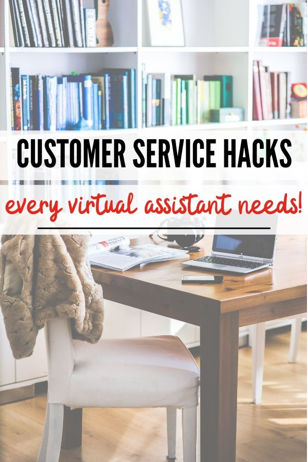 Are you a virtual assistant? Make certain to check out these great customer service hacks! #customerservicehacks #virtualassistant #workfromhome #onecrazyhouse