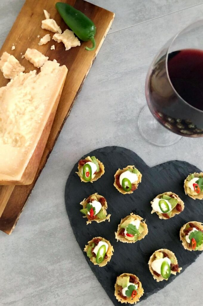Enjoy Mexican appetizers like these nacho bites