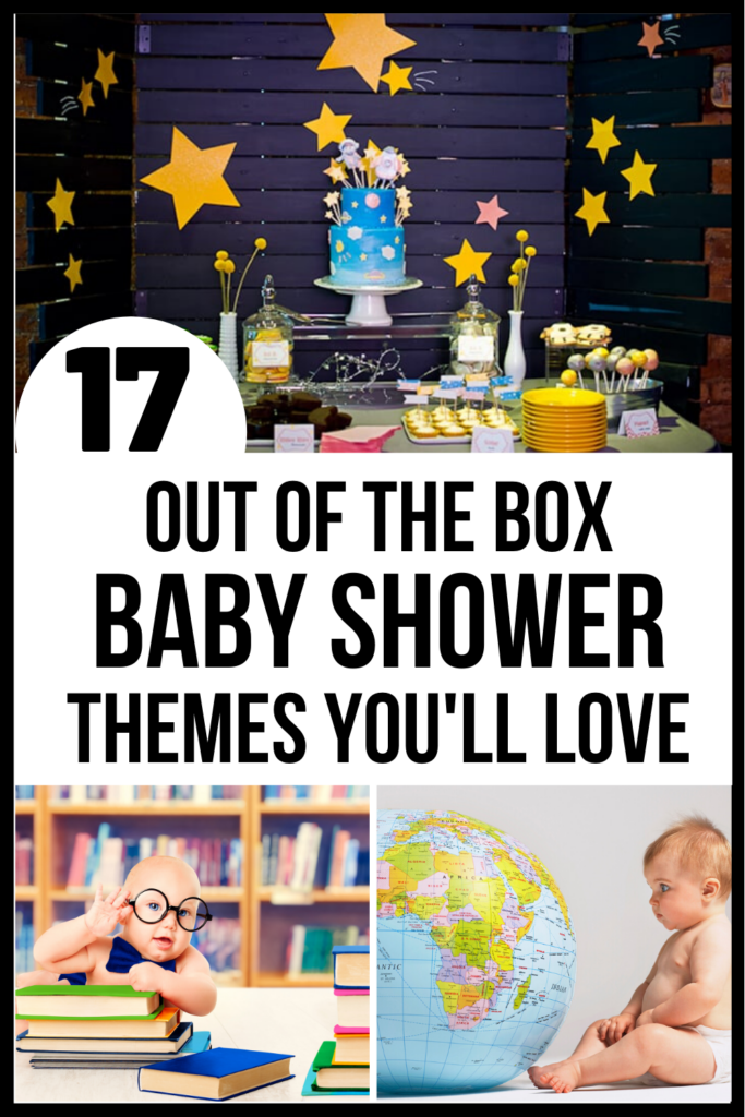 Pinterest graphic for a baby shower