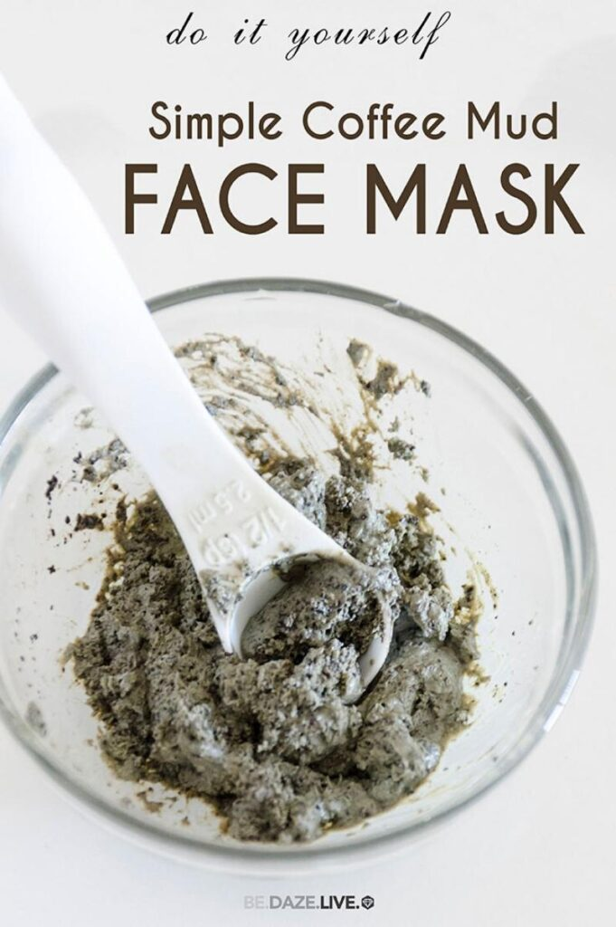 coffee mud mask in a bowl