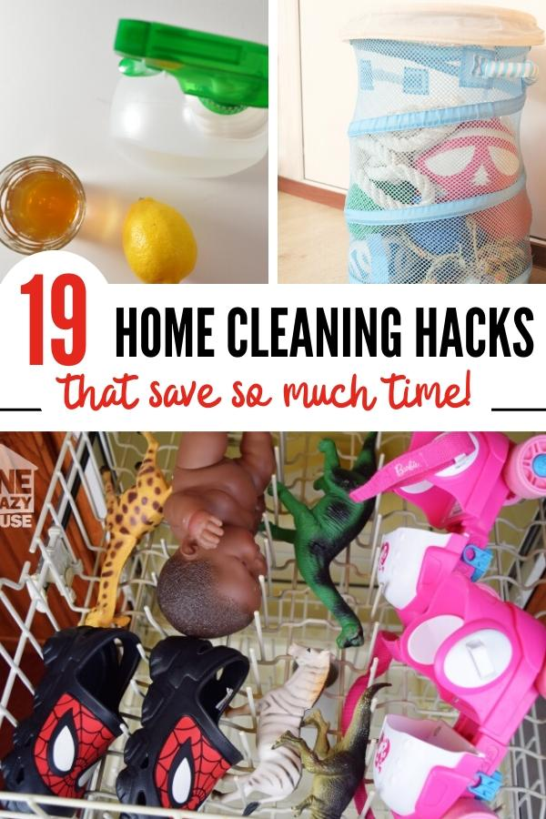 house cleaning hacks Pin image B